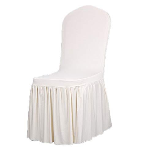Kentop - coprisedia elasticizzato, copertura per sedie a pieghe, rivestimento per sedie, per matrimoni, decorazioni, per sedie da hotel, bianco, 1 * 1 * 1