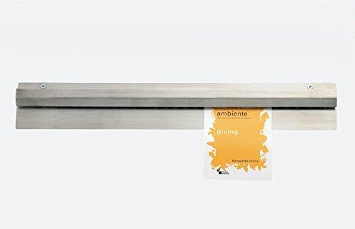 Bonschiene aus Edelstahl in mehreren Längen / Länge: 30, 46, 60, 75, 90 oder 120 cm (Bonschiene 5 - Länge: 90 cm)