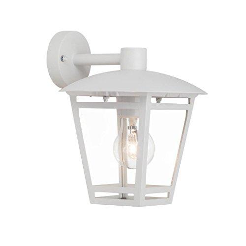 40 Watt Max Bulb (Brilliant Riley Außenwandleuchte hängend spritzwassergeschützt weiß, 1x E27 geeignet für Normallampen bis max. 40W)