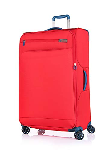 Grad 4 Stoff (Verage Visionary Reisekoffer 4 Rollen Stoff Trolley mit TSA-Schloss   Rot, L-(29