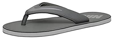 Nike Men's Chroma Thong 4 Tumbled Grey, Chrome and Light Bone Flip Flops Thong Sandals -10 UK/India (45 EU)(11 US)