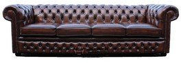 Chesterfield 4 Seater Settee Leather Sofa Offer by Chesterfield