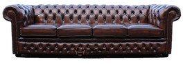 Chesterfield 4-Sitzer-Sofa Leder Sofa bieten