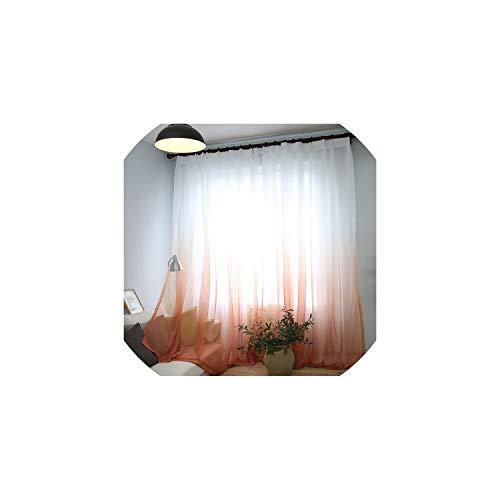 c-sky Fenster-Vorhang für Wohnzimmer Transparenter Stoff Küche Tulle Drape Voile-Vorhang, Tüll 06,1PC W100CM X H180CM, Tüllentyp Top (C-fenster-einheit Ein)
