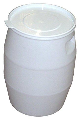 FÛT 50 litres et COUVERCLE LANGUETTE BLANC - GILAC
