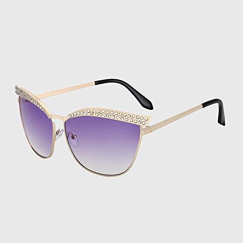 KLXEB Katzenaugen - Sonnenbrille Frauen Kristall Diamant Luxus Sonnenbrille Frauen Fahrradzubehör Vintage Design, C5