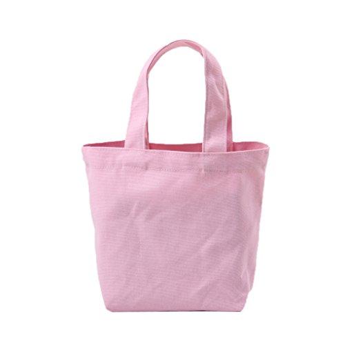 LUFA Segeltuch Mittagessen Beutel thermische Beutel Mittagessen Kasten Verpackung Kosmetische große Kapazitäts Beutel Rosa