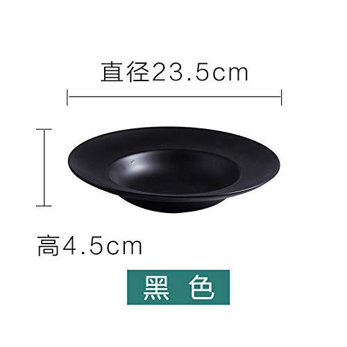Bwhman Keramikteller Keramik Nudelgericht Westerngericht Deep Dish Home Dish ^ Schwarz