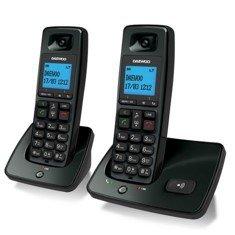 Telefono inalambrico dect daewoo dtd-4100 duo negro / manos libres