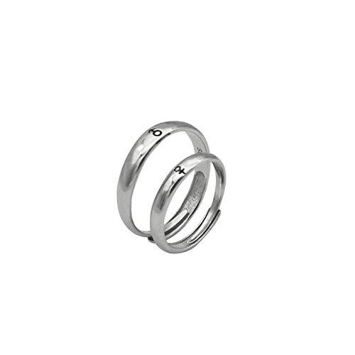 Neue Geboren Kostüm - XAFXAL Pärchen Ringe 925 Sterling Silver Vintage,Einstellbare Retro Paar Ring Geboren Liebespaar Ring Für Den Valentinstag Verlobung Geburtstag Geschenk Paar Ring
