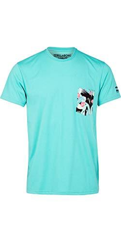 BILLABONG Herren Team Pocket Surf Rash T-Shirt Top Mint -
