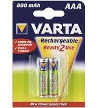 Varta - 56703 (READY 2 USE) Akku Ni-MH Micro (AAA) 1,2V 800mA AAA 800MAH NIMH 2-BL Varta (56703)