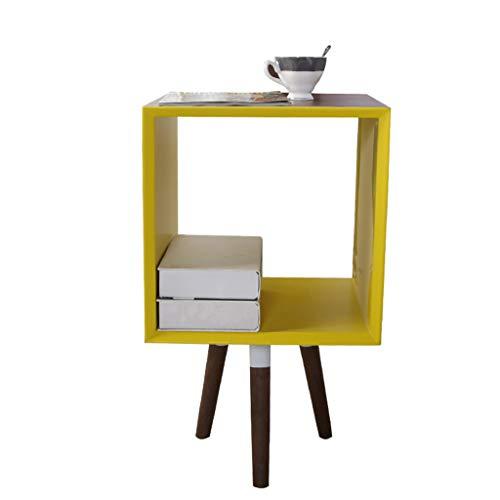 Tables Mini Basse dans Le Salon étagère de Salon Petite étagère créative Mini Porte-revues de Chevet de Chambre Armoire de canapé Armoire de Rangement (Color : Brown, Size : 39cm*39cm*69cm)
