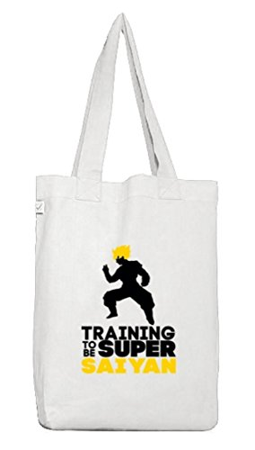 Serien Jutebeutel Stoffbeutel Earth Positive Training To Be Super Saiyan White
