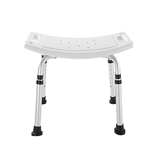 Badehocker Höhenverstellbarer Duschhocker aus Aluminium mit Duschkopfhalter Senioren/Behinderte Rutschfeste Badesitze