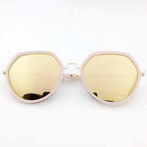 Sonnenbrille Damen, UV400-Schutzglas Gummi-Nasenpads Retro-Polarisationsgläser zum Fahren und für den Außenbereich Besser (Grasblau) (Color : Yellow)