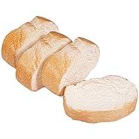 ERRO 4 Weißbrotscheiben aus Kunststoff - Baguette, Stangenbrot, Bäckerei Dekoattrappe, Lebensmittelnachbildung Brot, Fake Food, künstliche Lebensmittel, Theater Requisite preisvergleich bei kinderzimmerdekopreise.eu
