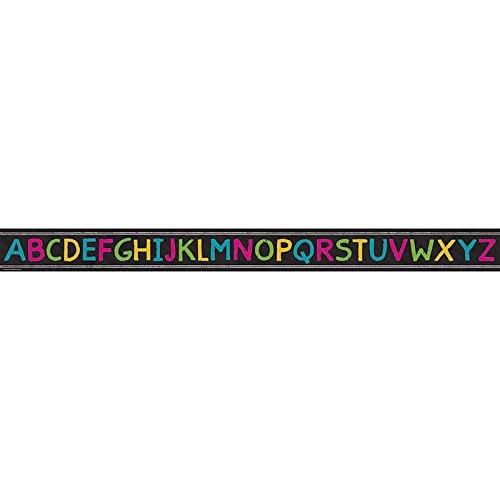 Teacher Created Ressourcen Kreidetafel Brights Alphabet gerade Border Trim -