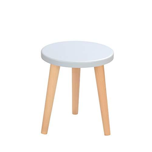 BIM Furniture Schemel Crystal White K MoonWood Stuhl Hocker Holzschemel runde weiß blau pink platt natürliche Eiche Esstisch Hocker...