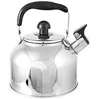 Home Aquablo Hervidor con Silbato, Acero INOX, Negro, 3.7 litros