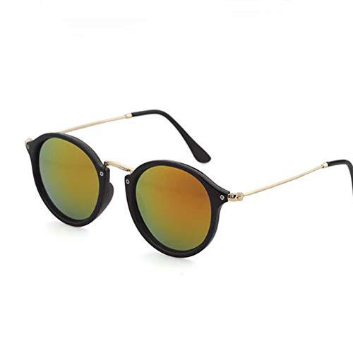 CCGSDJ 2018 Neue Ankunft Runde Sonnenbrille Retro Männer Frauen Markendesigner Sonnenbrille Vintage Beschichtung Gespiegelt