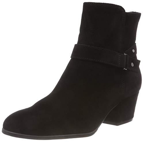 Tamaris Damen Stiefelette 25399-21,Frauen Stiefel,Boot,Halbstiefel,Damenstiefelette,Bootie,Reißverschluss,Trichterabsatz 5cm,Black,EU 40