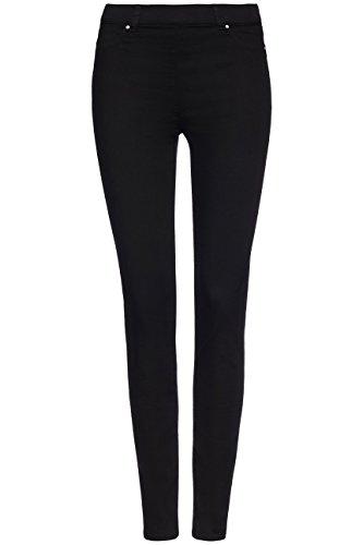 FIND Damen Bequeme Skinny-Jeans, Schwarz (Black), W32/L32 (Herstellergröße: Large)