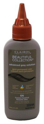 Clairol Professional Beautiful Collection Advanced Gray Solution Semi Permanent Hair Color 6N Toasted Hazelnut by Clairol