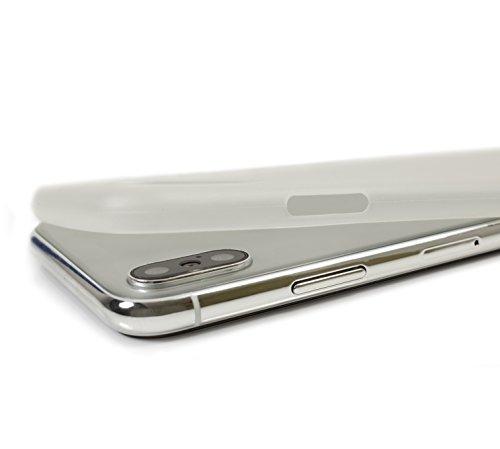 Custodia iPhone X, Orzly Slim Case per Apple iPhone X / iPhone 10 (2017 Modello) - Ultra Sottile (0,28 mm) Custodia Protettiva - COLOR GHIACCIO BIANCO Orzly Slim Case per iPhone X