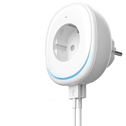 WiFi Smart steckdose, Echo dot zubehör,SmartHome Wlan steckdose mit 2 USB Port Amazon Alexa und Google Home Kompatibel,Timer Funktion,Kein Hub erforderlich, Steuern Sie Ihre Geräte von überall aus.