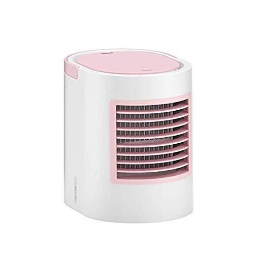 Hyh-t Lüfter, Elliptischer Wassergekühlter Klimaanlagenlüfter, Nachtlicht, Lüfter, USB-Netzteil, Großer Lüfter, Für Den Innenbereich Geeignet,Pink
