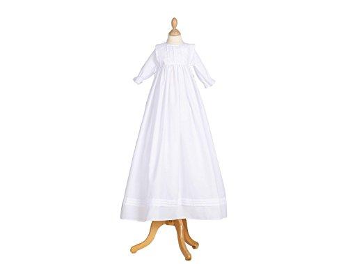 72bd98191 Pretydress - Ropa de bautizo - trapecio - para bebé niña Blanco blanco