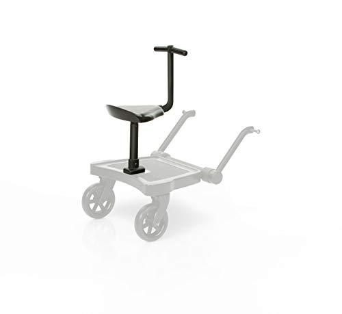 ABC Design Trittbrett Kiddie Ride On 2 | ABC Design Mitfahrbrett schwarz | universal passend für gängige Kinderwägen & Buggies | Rollbrett für Kinderwagen Buggy bis 20 kg, Größe:Sitz