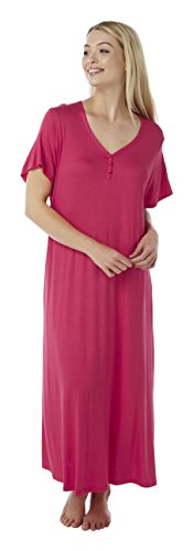 - 31xXJmwiiRL - Ladies Plus Size Jersey Nightdress Nightie Print & Plain