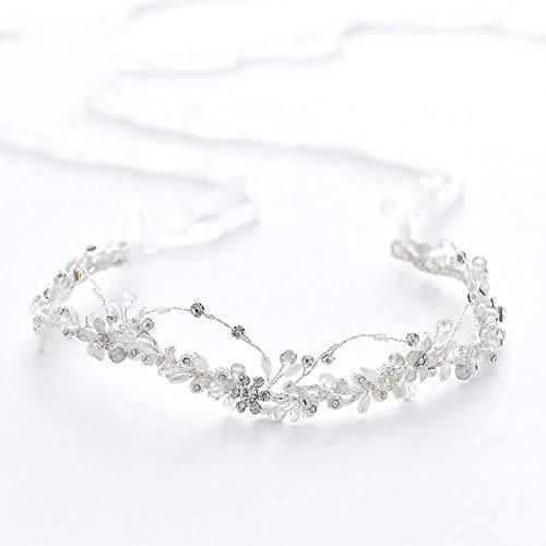 LINLIN-Kopfbedeckungen Mode Braut Tiara Haarband Handgemachte Perle Strass Stirnband Hochzeitskleid...