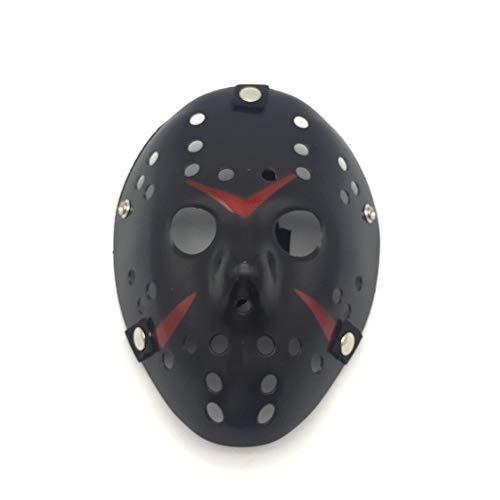 VAWAA Party Masken Jason Voorhees Beängstigend Prop Hockey Cosplay Gruselige Maske Freitag 13. Nizza (Voorhees Jason Gesicht)