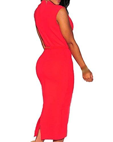 E-Girl FOB6973 femme Robes de Soirée cocktail Rouge