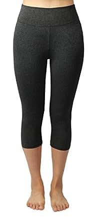 4How Legging damen dunkelgrau marine jogging hosen Capri fitness Yoga Pants, Gr. XS