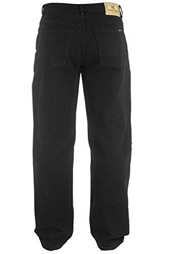 King Size Taille Hommes Jeans Coupe Confort Jeans Duke Rockford Denim Noir Pantalon Noir - Noir