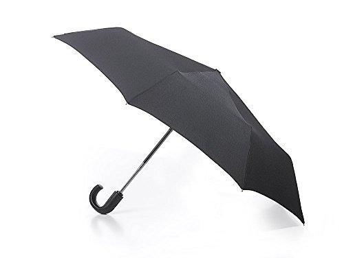 Fulton - Parapluie Deluxe - poignée courbée - ouverture/fermeture automatique - noir
