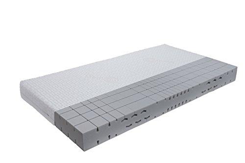 orthopädische 7 Zonen Kaltschaummatratze Sleep-Line-Classic Medicottbezug Härte: H3 (ab 85kg) Gr.100x200 cm
