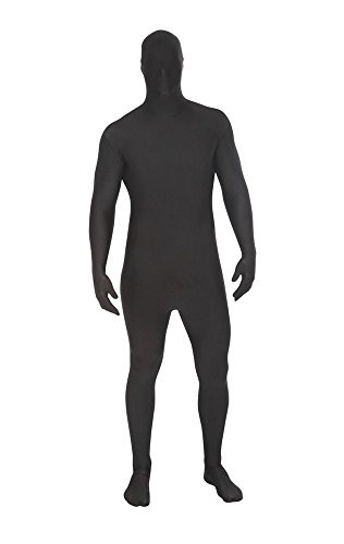 Morphsuits - Costume intero aderente per travestimento, Adulto, taglia: L (161-177 cm), colore: Nero