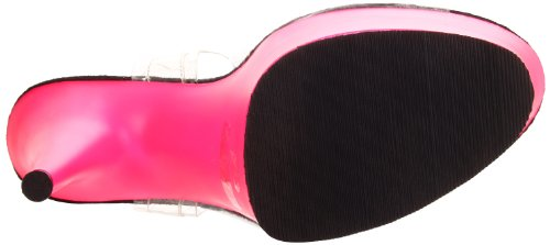 Pleaser Pleaser Delight-608uv, Sandales  Bout ouvert femme Transparent (Clr/Neon Pink)