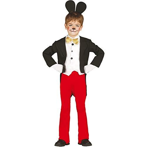 Guirca grafoplas SL.-Traje de Mickey Mouse Talla 5/6años, Color Negro, Rojo y Blanco, 85694