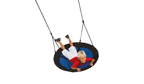 Stabile Nest-Schaukel / Vogelnest-Schaukel / Hängeschaukel für Kinder aus wasserabweisendem Material im Ø ca. 100 cm für Höhen von ca. 200 bis 240 cm