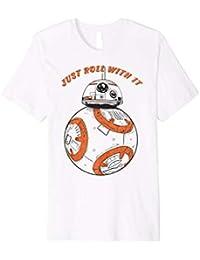 Star Wars Last Jedi BB-8 Just Roll With It Graphic T-Shirt