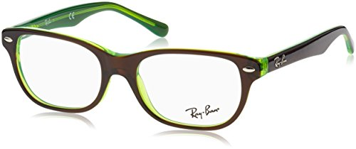 Ray-Ban Unisex-Kinder 0RY 1555 3665 48 Brillengestelle, Braun (Topo Brown On Green Fluo),