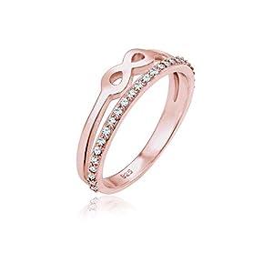 Elli Damen Ring Infinity Symbol Swarovski Kristalle in 925 Silber