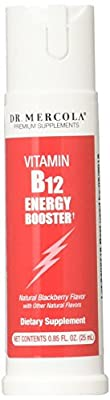 Vitamin B-12 Energy Booster, Natural Blackberry Flavour 25 ml by Dr Mercola