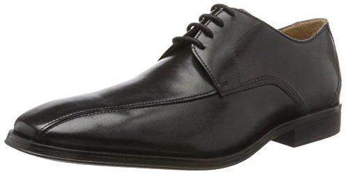 Clarks Herren Gilman Mode Derbys, Schwarz (Black Leather-), 44.5 EU Männer, Mode Schuhe